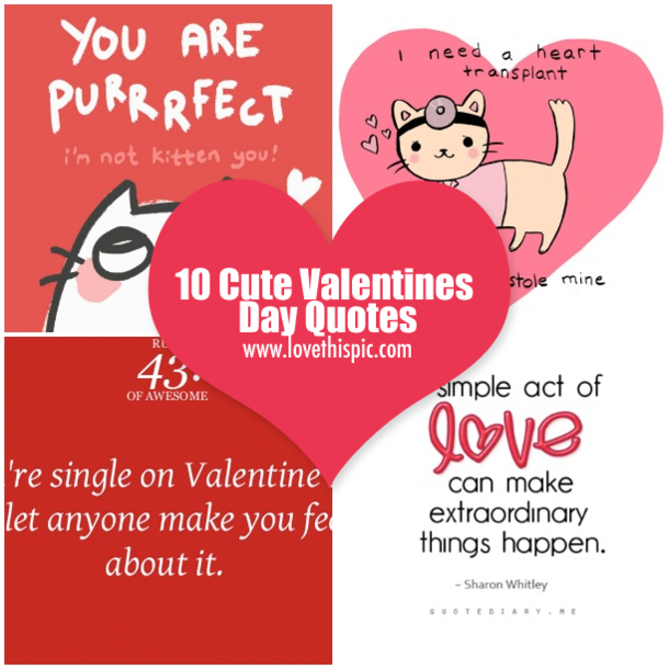 10 Cute Valentines Day Quotes