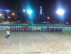 Rio Grande do Norte e Paraíba disputam desafio de futebol de areia em Natal (Foto: Divulgação/10 Sports)