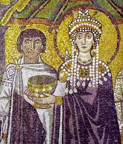 Mosaico bizantino con la imagen de Teodora