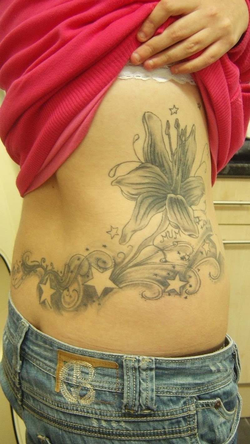 Flowers And Stars Tattoos Designs Tattoos Book 65000 Tattoos