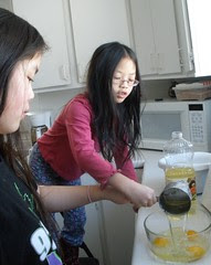 Pouring Oil in Bowl