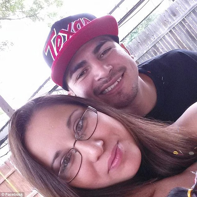 Menchaca, pictured above with his girlfriend, was beaten with aluminum baseball bats, suffocated with a plastic bag and then dismembered and burned in a barbecue pit