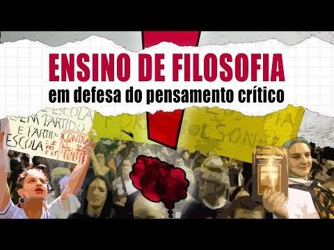 """Documentário """"Ensino de Filosofia: em defesa do pensamento critico""""."""