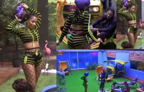 #BBNaija: Frodd leads male housemates in prayers as Mercy channels her sexiness (video)