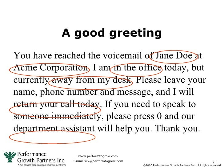 Cute Business Voicemail Template Images - Example Resume Ideas ...