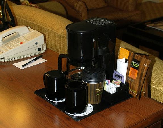 In-room coffee/tea machine