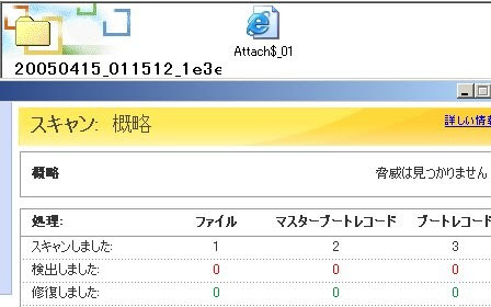 ウイルスの検索、駆除