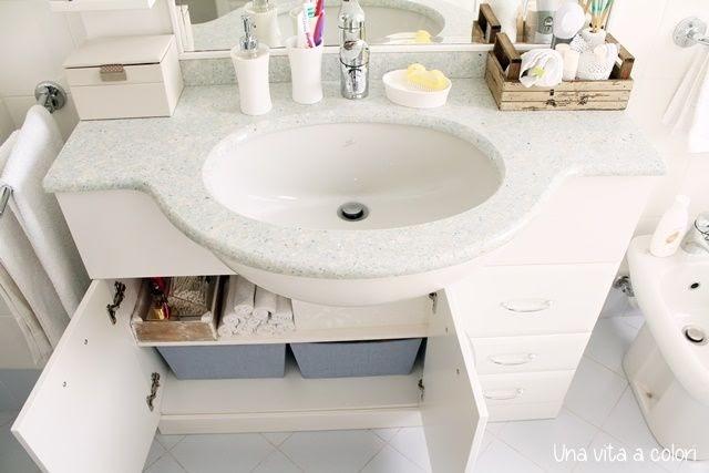 Come organizzare il mobile del bagno ~ gestione della casa