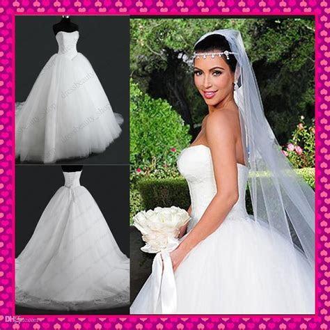 Kim Kardashian Inspired Corset And Tulle Ball Gown Wedding