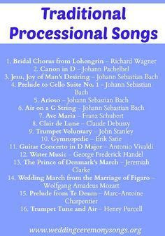 Processional Songs on Pinterest   Wedding Songs, Wedding