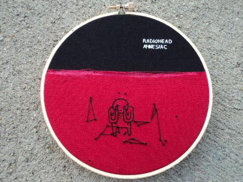 radiohead amnesiac album cover embroidery