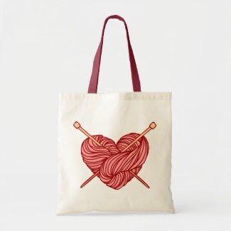 I Love Knitting Tote Bags
