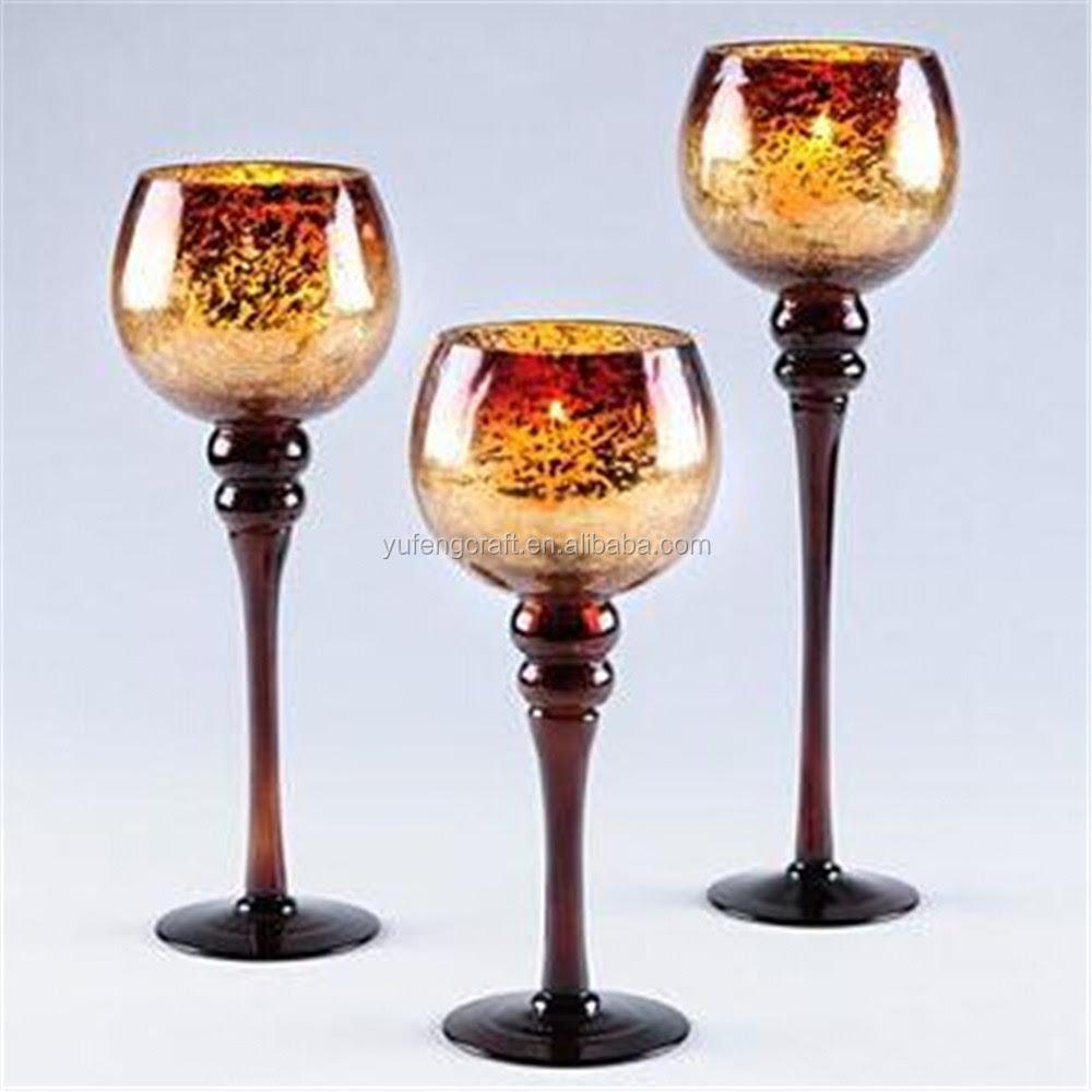 Gold Mercury Glass & Gold Mercury Glass Goblet Holiday ...