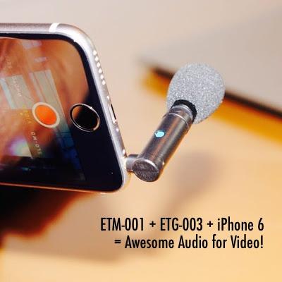 Mikrofon ETM-001 z przejściówką ETG-003. Zdjęcie producenta.