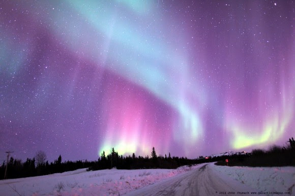 Aurora seen near Fairbanks, Alaska on March 21, 2014. Credit and copyright: John Chumack.