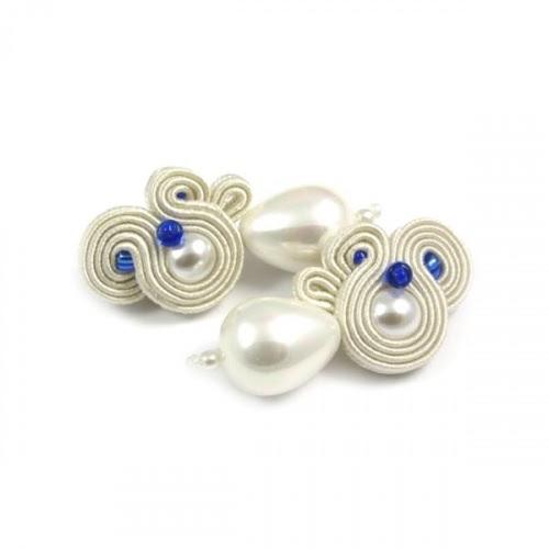 Perłowe kolczyki ślubne sutasz