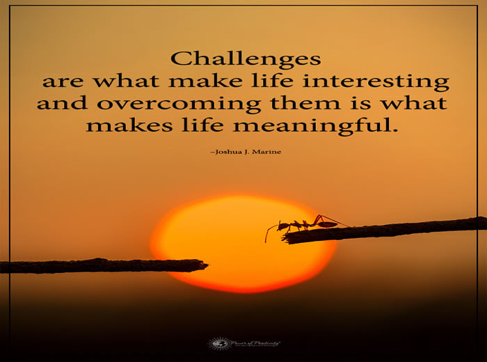 Challenges Are What Make Life Interesting Inspirational Quotes