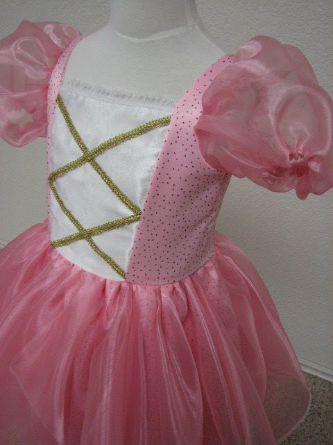 Cute Pink Fabulous Fairy Princess Tinkerbelle Costume Gown Size 2/3