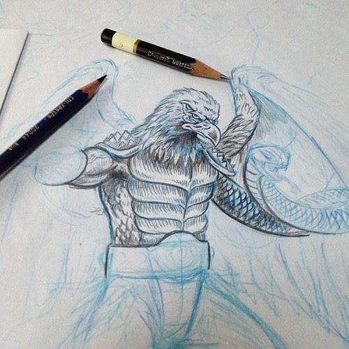 New Villain Sketch Cont.., by Bebop'n