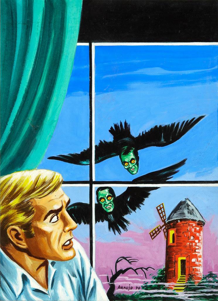 Mexican Pulp Art - 3 - Araujas Micro-Leyendas #160 Cover Original Art (1970)