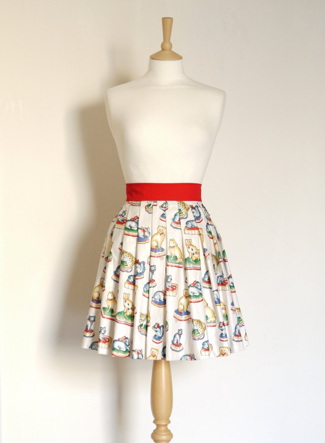 Mini Menagerie Pleated Skirt - Made by Dig For Victory - FREE SHIPPING worldwide