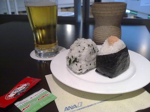 Musubi, Beer, and Sake