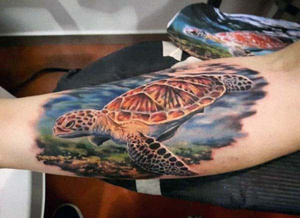 100 Turtle Tattoos For Men Hard Shell Design Ideas