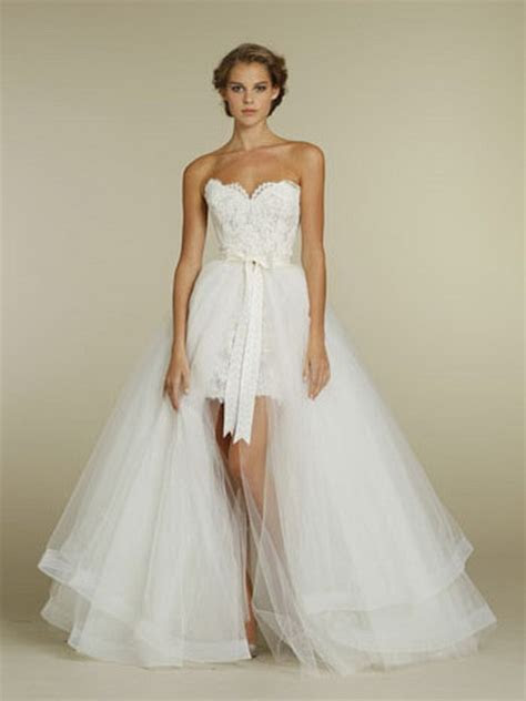 Short wedding dresses with train