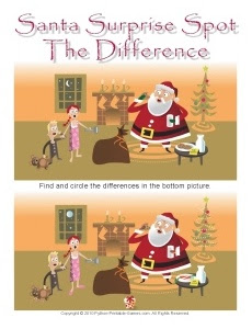 Santa Claus Spot The Difference Game
