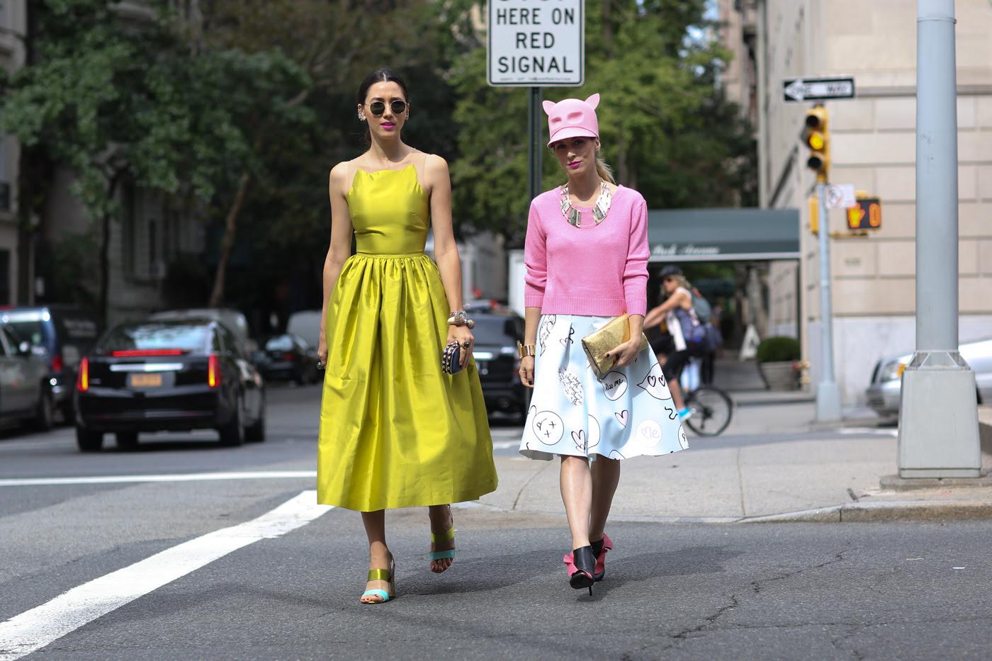 Стритстайл на Неделе моды в Нью-Йорке