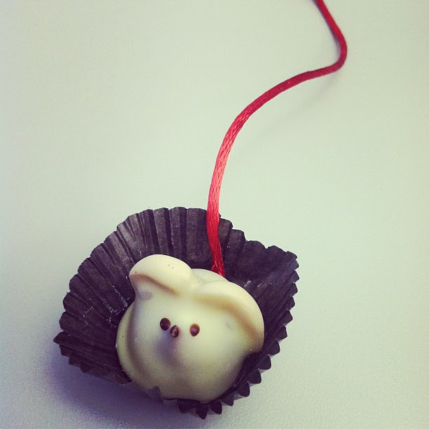 #Chocolate #mouse from #laburdick.  Too cute to eat.