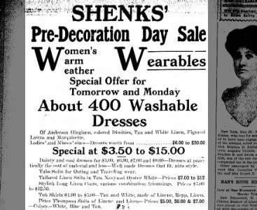 Pre-Decoration Day Sale 1911