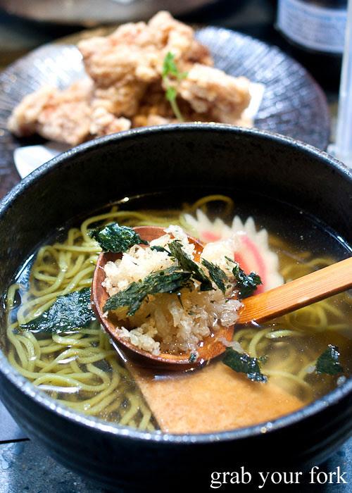 Soba noodles at Umi Kaiten-Zushi
