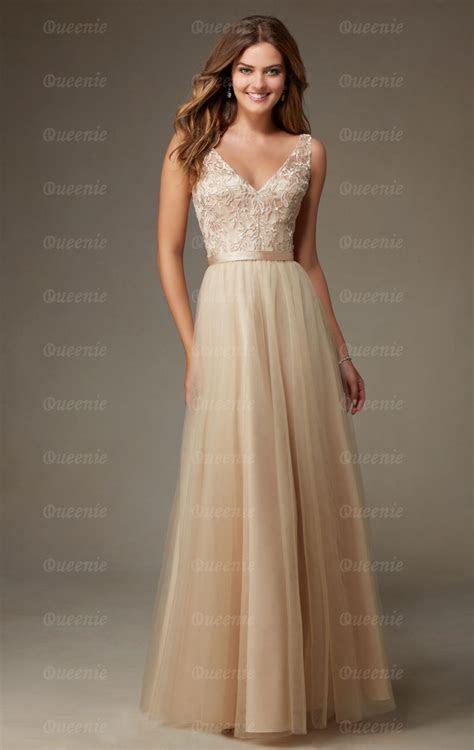 Stunning Champagne Bridesmaid Dress BNNCL0010 Bridesmaid UK