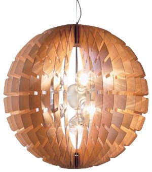 B.Lux - Helios Wood Pendant Lamp - modern - pendant lighting - by ...