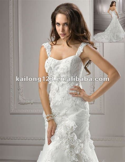 Romantic Fit and Flare Floor length Chapel train Strapless