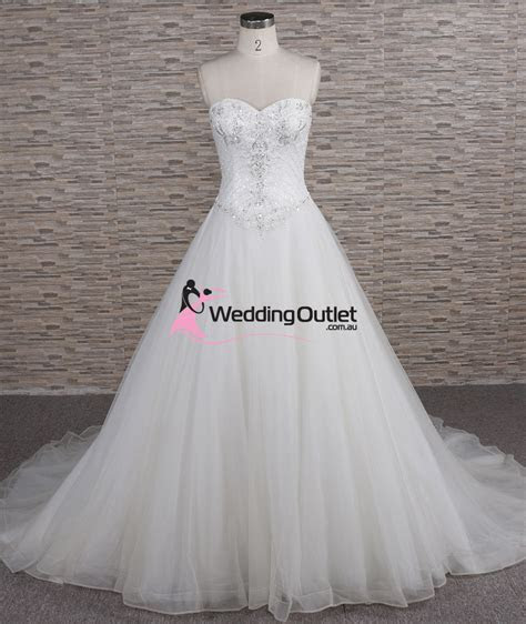 Quinn Strapless Beaded Aline Wedding Dress   WeddingOutlet