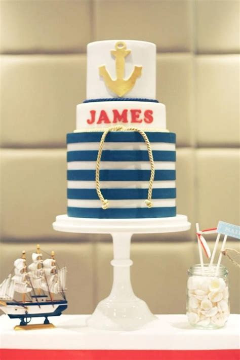 Nautical Cake for a unisex party theme   Birthday Party