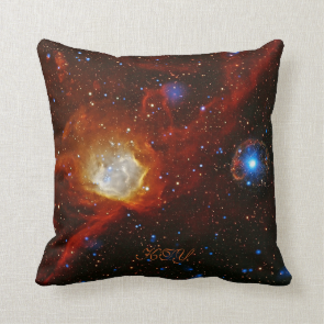 Monogram Celestial Bauble - SXP1062 space picture Pillows