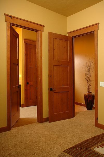 2 KNOTTY ALDER 3 PANEL MISSIONSHAKER STYLE INTERIOR DOORS IN 1001