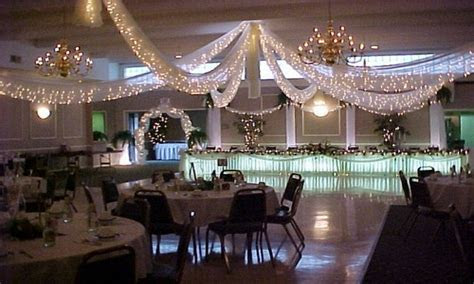 Outdoor christmas decorations, wedding reception