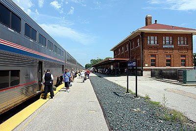 The Empire Builder at LaCrosse