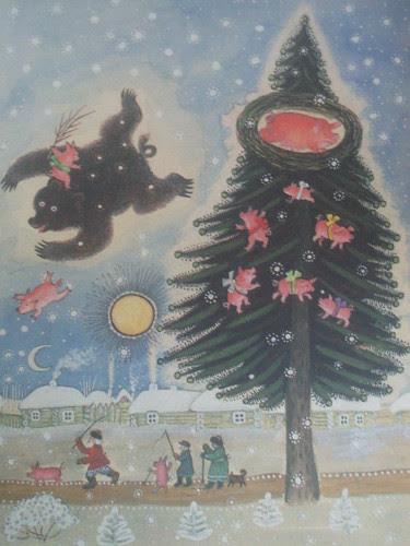vliegt beer langs de hemel in vliegende vaart...
