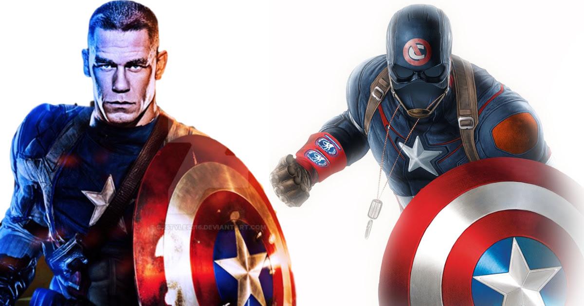 Twórca Deadpoola przedstawił Johna Cenę w postaci Kapitana Ameryki