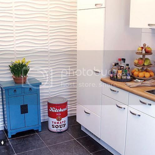 3D Panels in kitchen