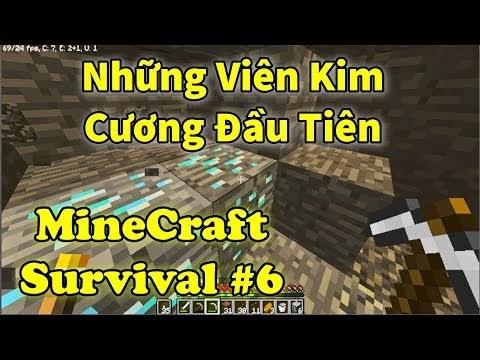 Minecraft Sinh Tồn 1.13.2 Tập 6 -  Những Viên Kim Cương Đầu Tiên