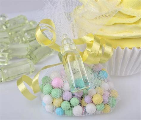 Yellow Baby Bottle Shower Favors   Baby Shower Decorations