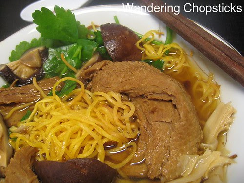 Mi Vit Tiem Chay (Vietnamese Vegetarian Chinese Five-Spice Duck Soup with Egg Noodles) 2