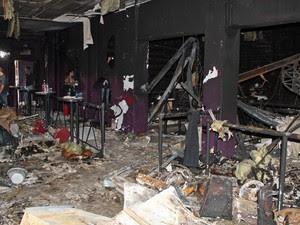 VALE Foto divulgada pela polícia nesta terça (29) mostra o interior da boate Kiss destruído após tragédia (Foto: Divulgação/Polícia Civil do Rio Grande do Sul)
