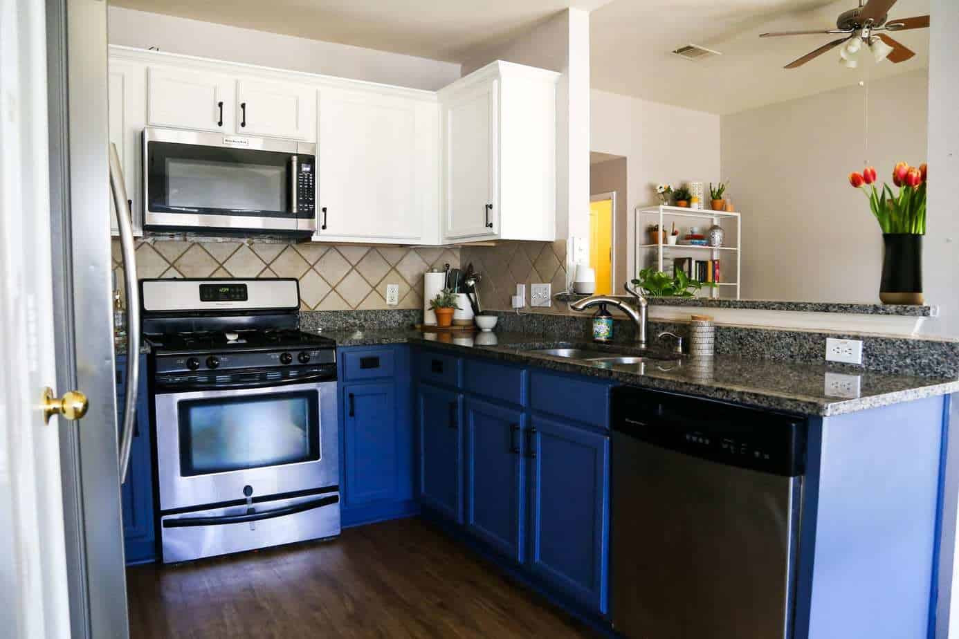 Blue & White Kitchen Cabinets | Love & Renovations